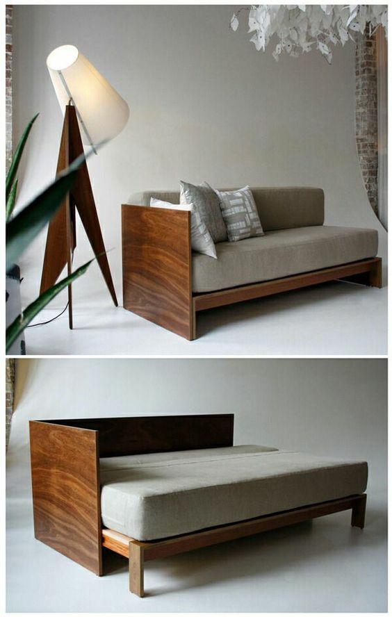 sofa gỗ kéo ra thành giường đẹp