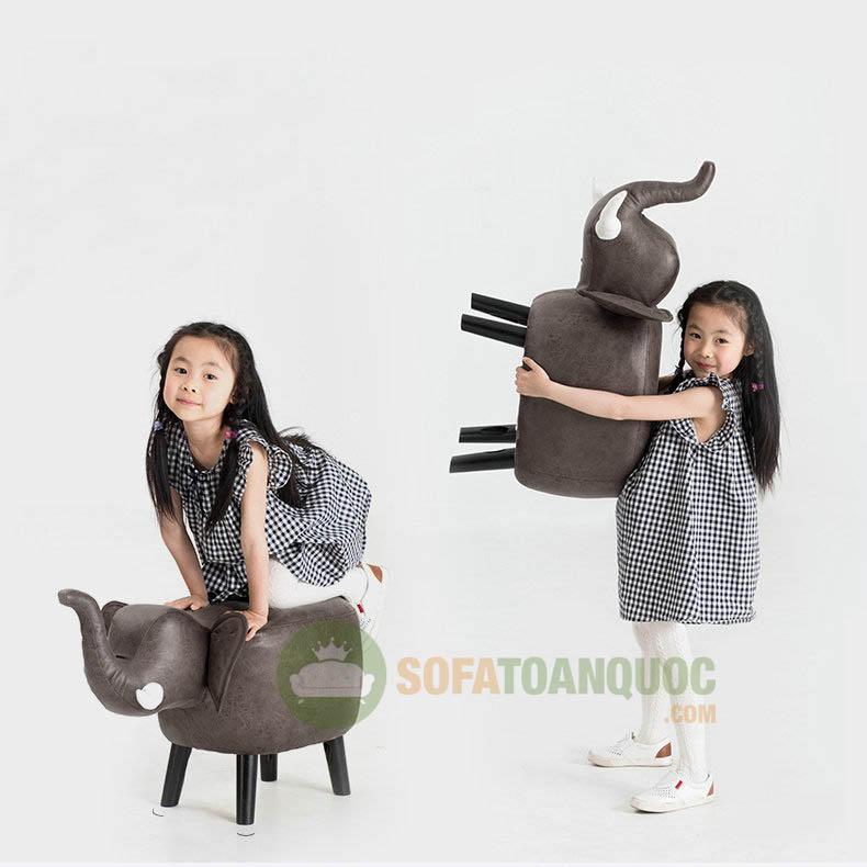 trọng lượng ghế sofa hình thú từ 3-6kg