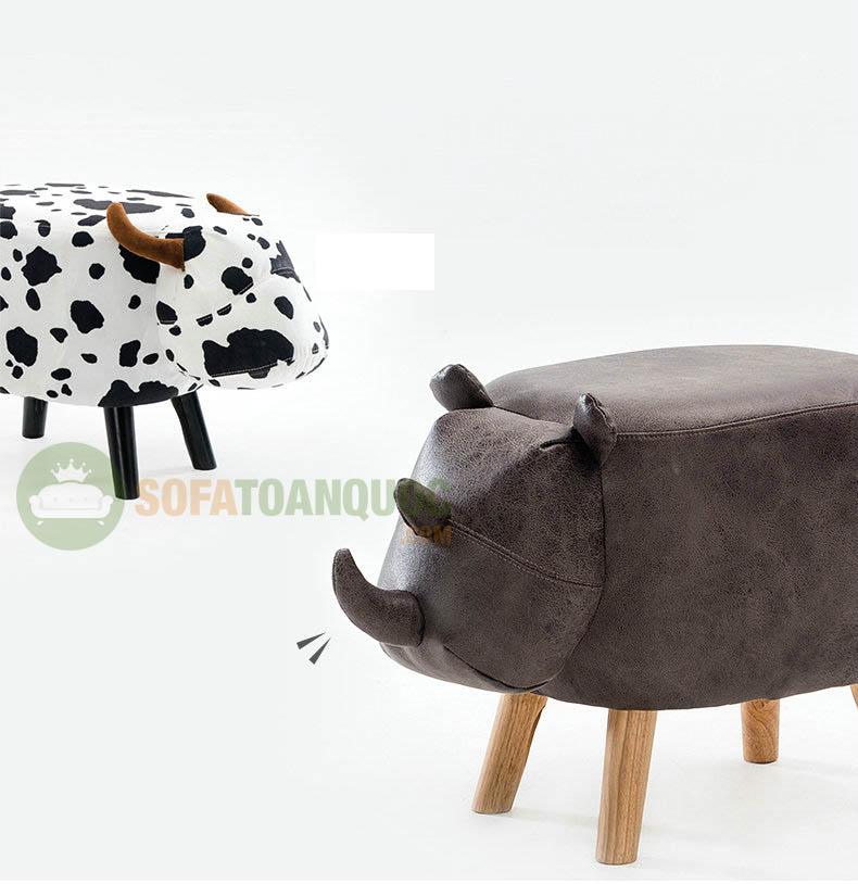 ghế sofa hình thú cho bé dễ thương hình con bò