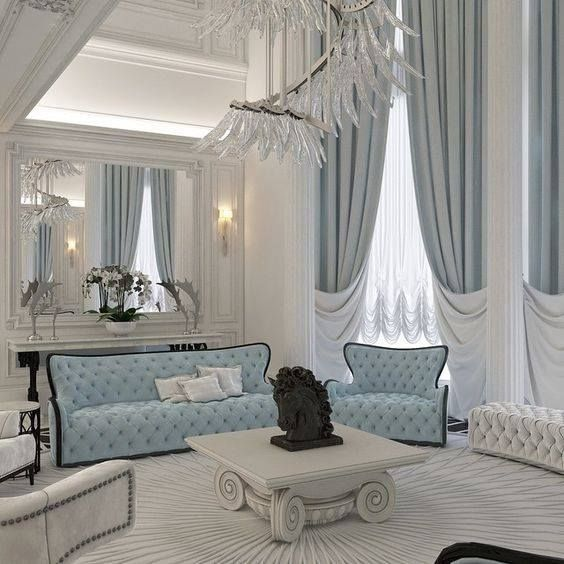 sofa hoàng gia phong cách hiện đại màu sáng