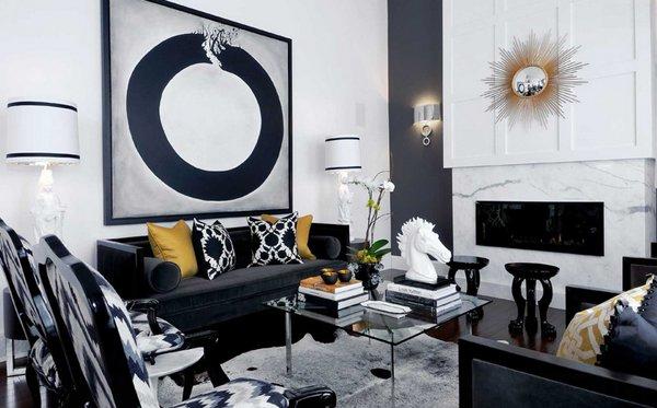mẫu ghế sofa phong cách màu đen