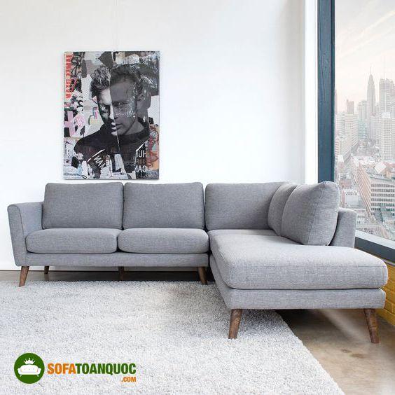 sofa góc màu ghi sáng