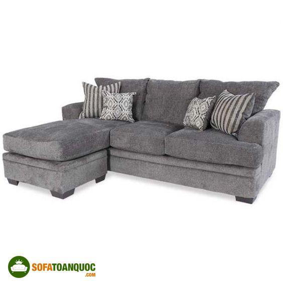 ghế sofa góc màu ghi