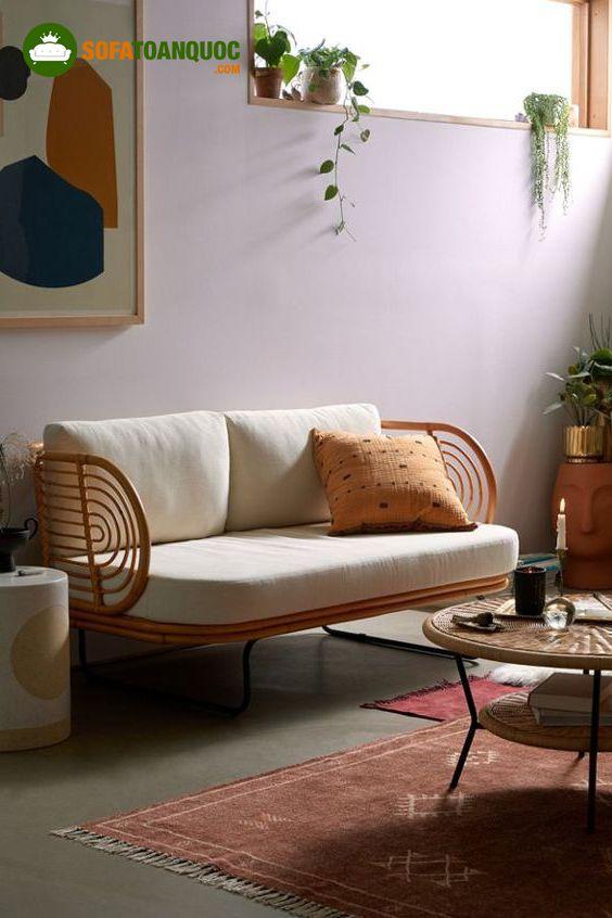 ghế sofa mây tre tự nhiên đẹp mắt