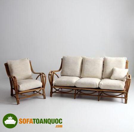 bộ ghế sofa mây tre tự nhiên phòng khách