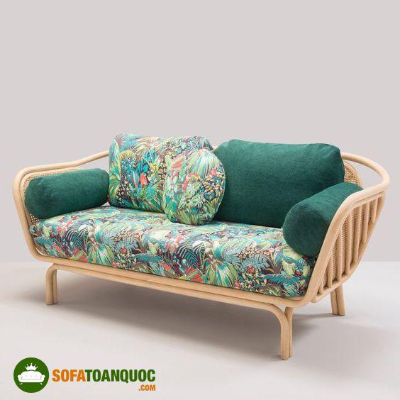 ghế sofa mây nhựa tre đan