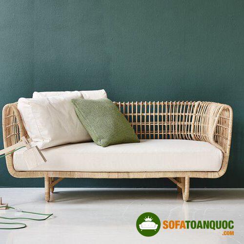 ghế sofa văng mây tre đan