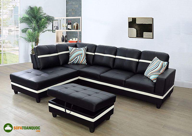 ghế sofa màu trắng đen