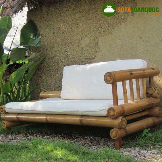 bộ ghế sofa bằng tre ngoài trời