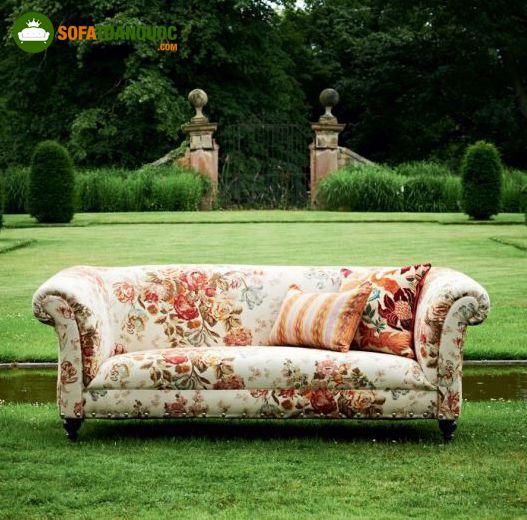 ghế sofa vải phong cách vintage