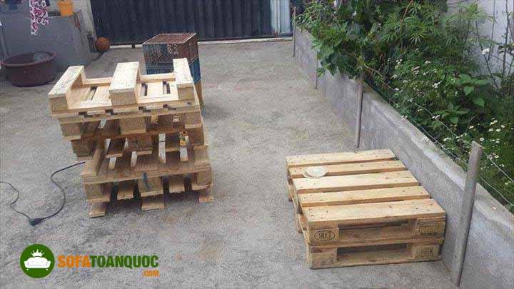 chọn gỗ pallet đóng sofa