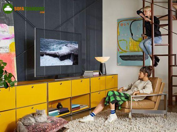 khoảng cách từ sofa tới tivi bao nhiêu