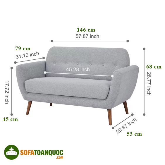 kích thước sofa văng thuyền