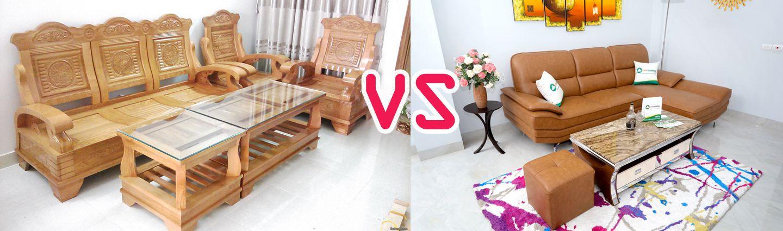 Nên mua bàn ghế gỗ hay ghế sofa