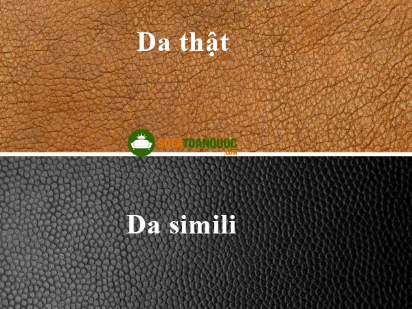 so sánh da simili và da thật