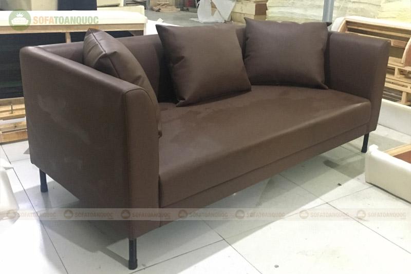 sofa 2m bọc da văng chân inox