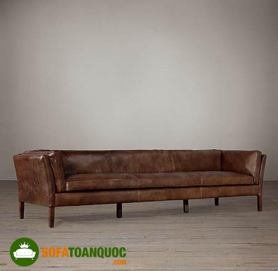sofa đơn dài bọc da