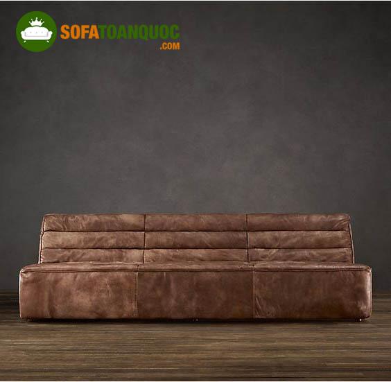 sofa đơn dài không tay vịn
