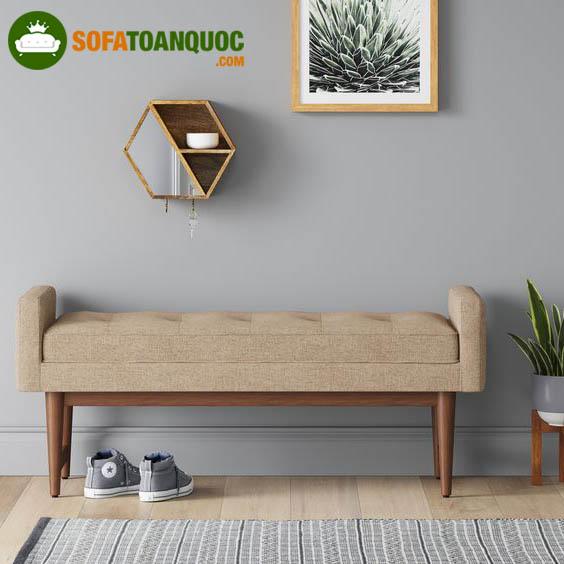 sofa đơn dài khung gỗ bọc nỉ