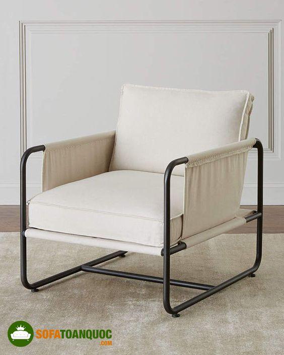 ghế sofa đơn khung sắt