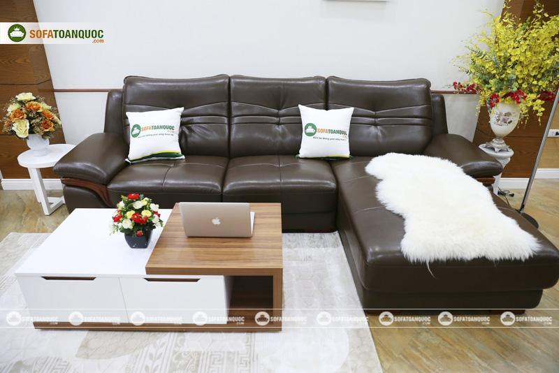sofa góc đẹp bọc da