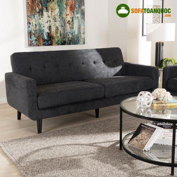 sofa màu ghi xám lông chuột