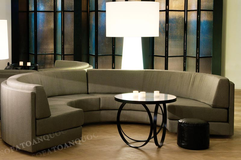 ghế sofa cong phòng khách gia đình