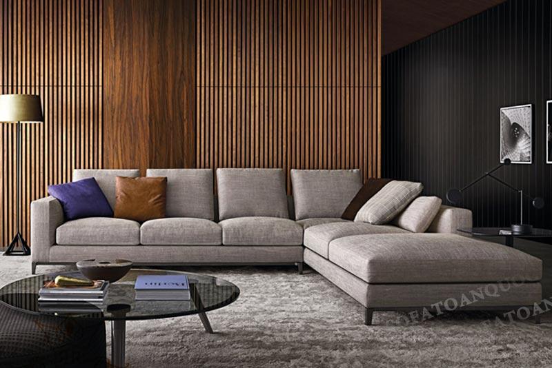 Sofa 3 chỗ chất liệu vải bố