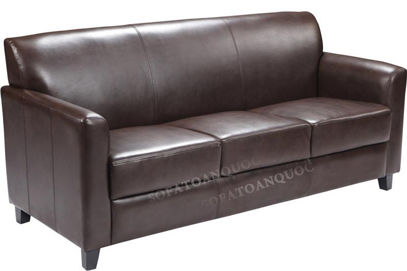 sofa văng 2 chỗ bọc da