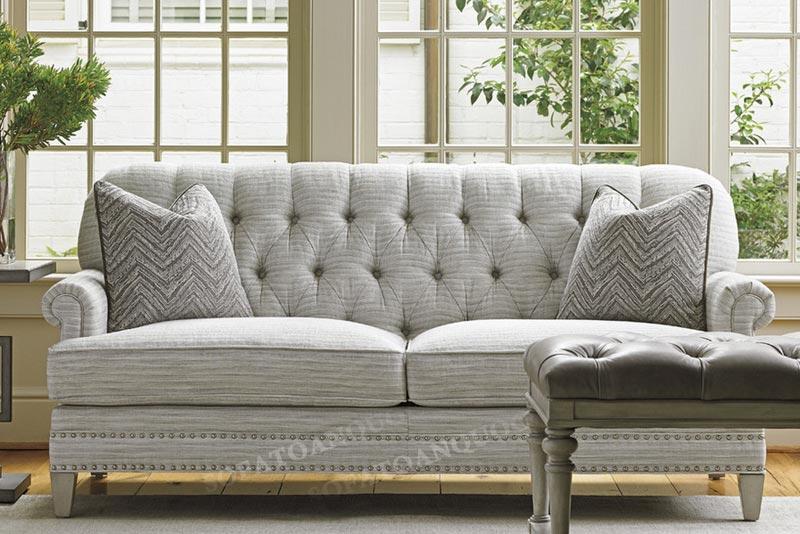 sofa văng 2 chỗ màu xám trắng
