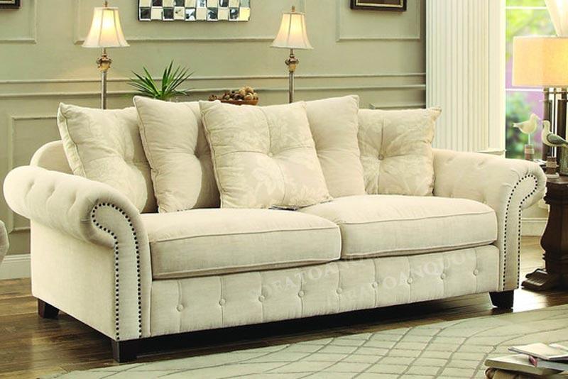sofa văng vải tân cổ điển 2 chỗ ngồi
