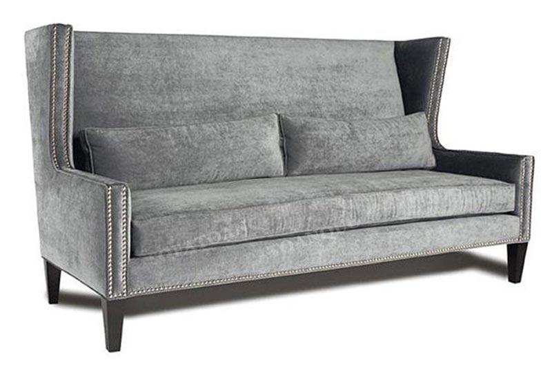 Ghế sofa văng màu xám cách điệu