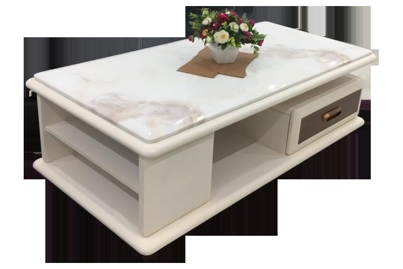 Bàn sofa mặt đá marble màu trắng mã d1300