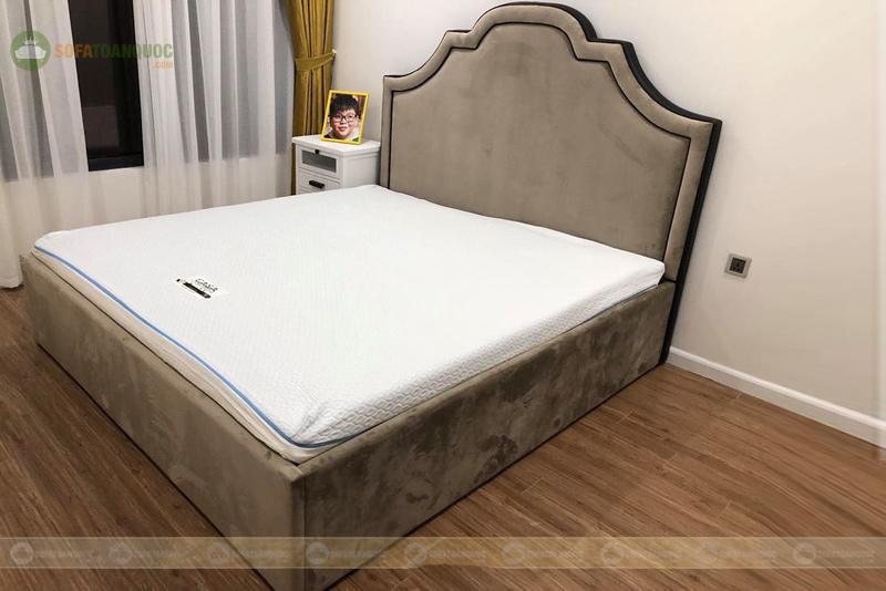 Giường ngủ màu xám 1900mm mã 81