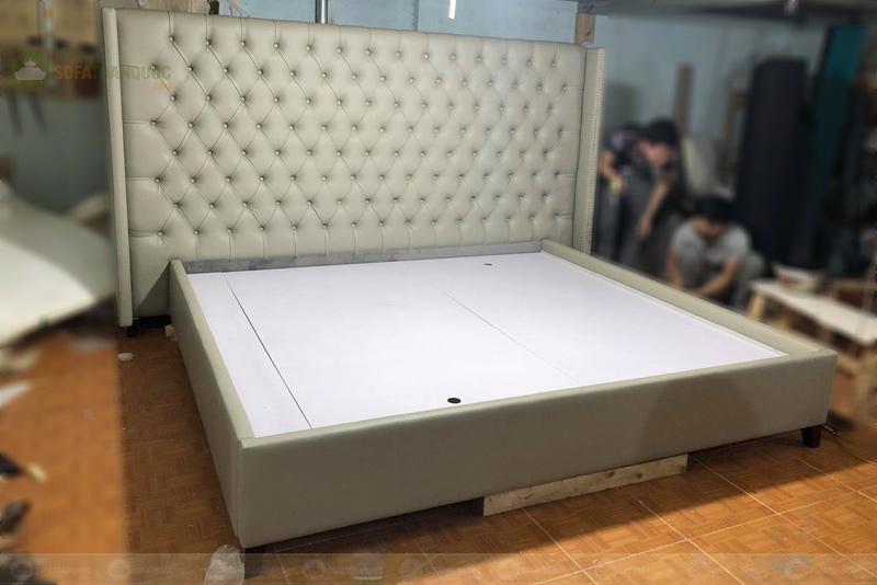 Giường ngủ da 2300mm mã 82