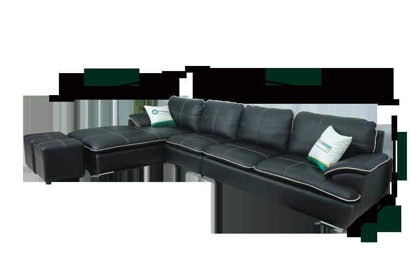 Kích thước bộ ghế sofa phòng khách góc l màu đen mã m05