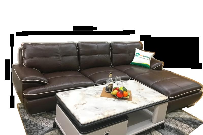 kích thước ghế sofa da thật phòng khách