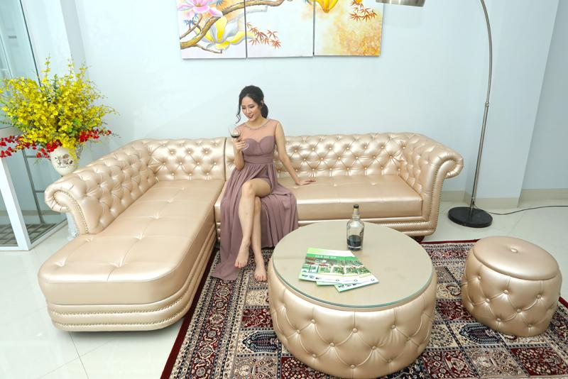 sofa tân cổ điển cho phòng khách