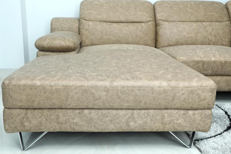 ghế sofa chân inox chữ V