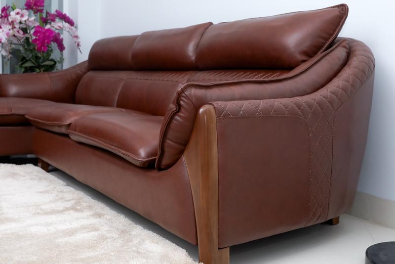 sofa da bò thật đẳng cấp