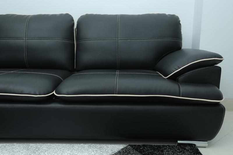 ghế sofa chất liệu da công nghiệp
