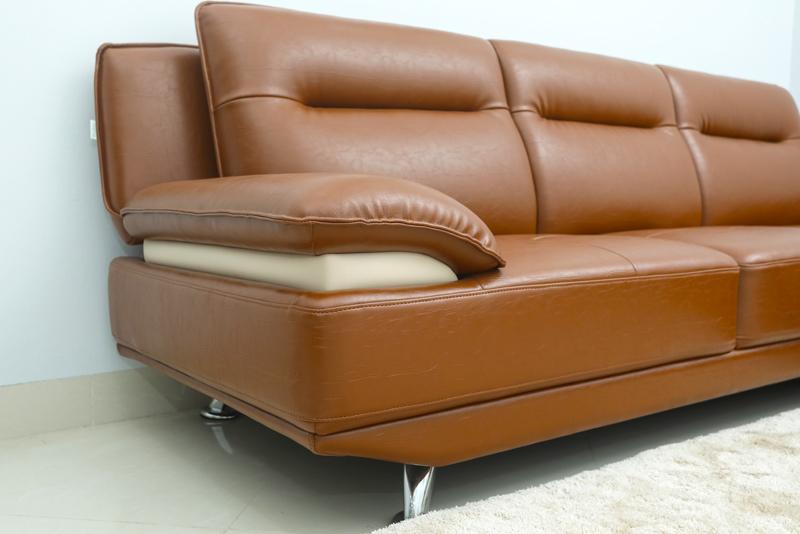 ghế sofa da công nghiệp màu nâu