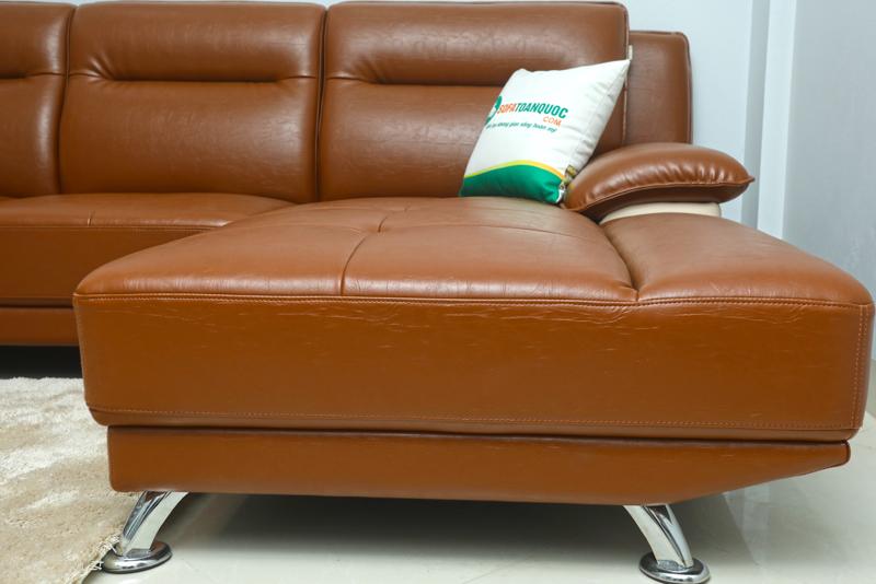ghế sofa da công nghiệp chân inox
