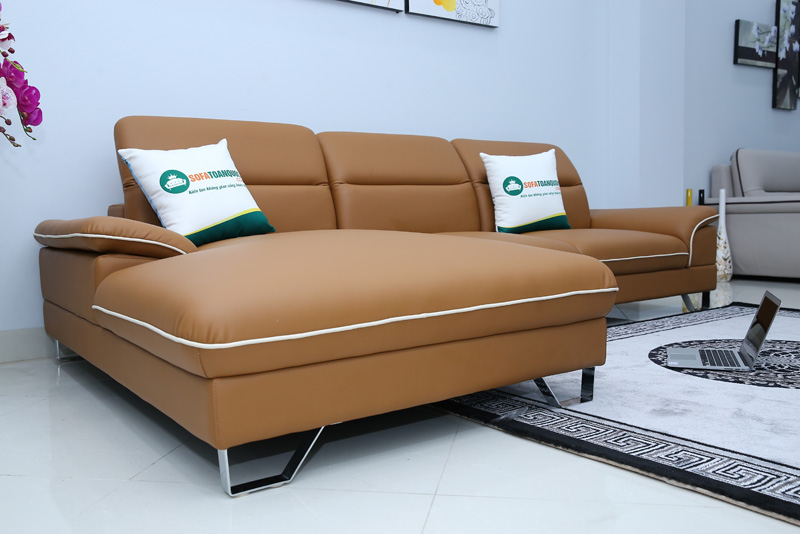 sofa da chân inox 304