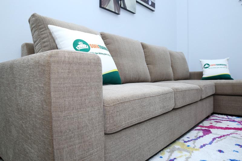 bộ ghế sofa vải đệm rời