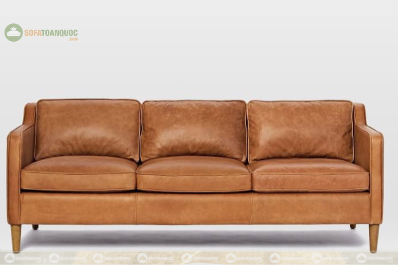 sofa da bò dài 2m 3 chỗ ngồi