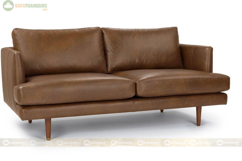 sofa 2m2 dạng sofa văng bọc da
