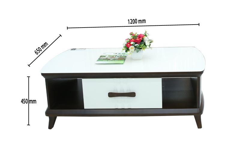 Mẫu bàn trà mặt đá màu trắng kích thước 1200mm mã BT92-1300