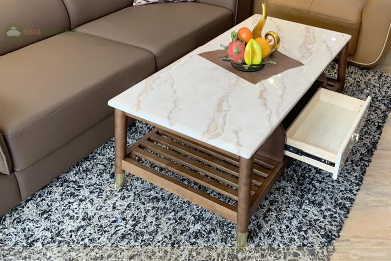 Bàn trà mặt đá A01