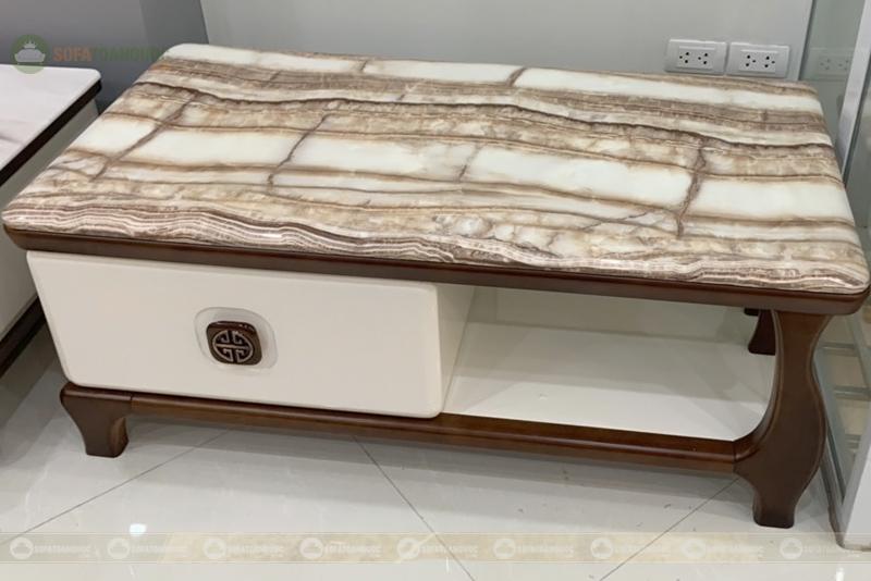 Bàn mặt đá marble hoa vân đẹp mã 191